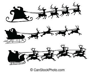 Fliegende Santa und Weihnachtstier