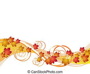 Fliegender Herbst hinterlässt Hintergrund