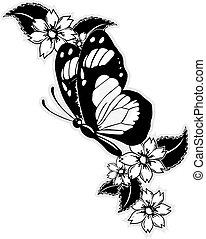 Fliegender Schmetterling.
