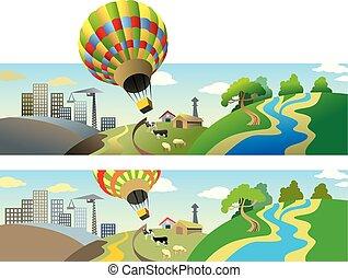 fliegendes, balloon