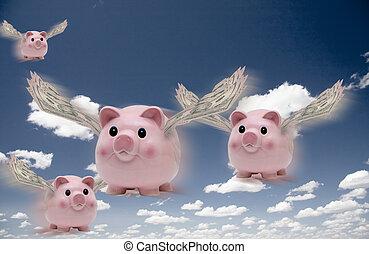 fliegendes, schweine