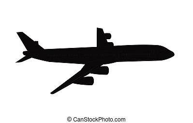 Flieger in Silhouette