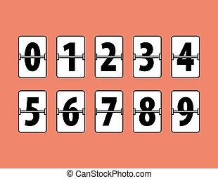 Flip-Uhr-Nummern