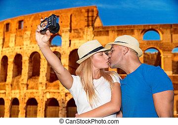 Flitterwochenurlaub in Rom.