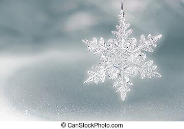 flocke, feiertag, schnee, hintergrund