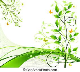 Floral, abstrakter Hintergrundvektor