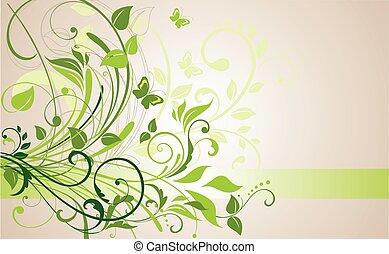 Floral Banner.