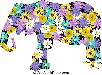 Floral Elefant.