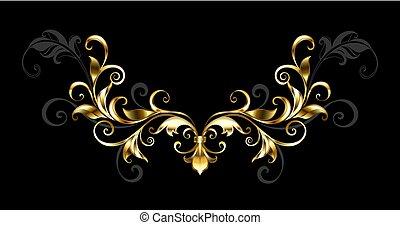 Floral Goldrahmen.