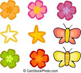 Floral-Grafikelemente.