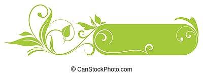 Floral Green Rahmen.