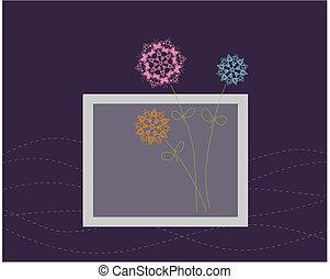 Floral Grußkartendesign