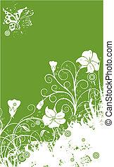 Floral Grunge Hintergrund, Vektor