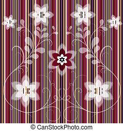 Floral hat ein nahtloses Muster