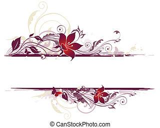 Floral Hintergrund mit violetten Blumen