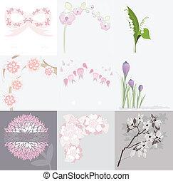 Floral Hintergrundset