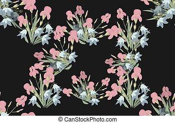 Floral Iris Bell Hintergrund vektor Illustration