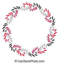Floral Kreisrahmen