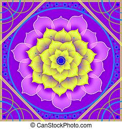 Floral Mandala in Lilafarben