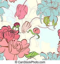 Floral nahtlos