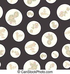 Floral nahtlose Muster mit abstrakten Blättern, Blumen, Petunien und Daisys.