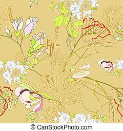 Floral nahtlose Tapete.