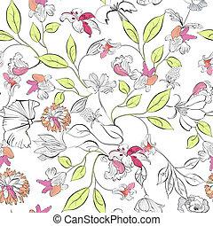 Floral nahtlose Tapete