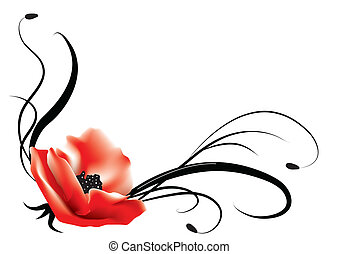 Floral Postkarte. Victor Background
