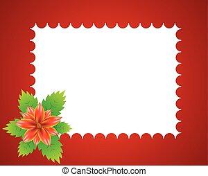 Floral Red Rahmen.