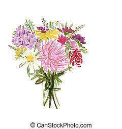 Floral Sommerbouquet für Ihr Design.