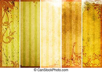 Floral Stil Texturen und Hintergrundrahmen.