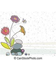 Floral und der Schmetterling