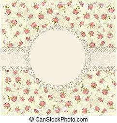 Floral Vintage Hintergrund.