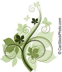 Florale Designelemente