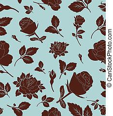 Flores nahtloses Muster mit Rose,