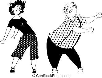 Floss Tanzpaar.