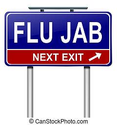 Flu-Alarm-Konzept.