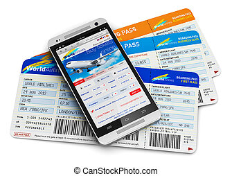 Flugtickets online kaufen.