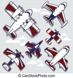 Flugzeug-Zeichentrickfilm für kindischen Dec