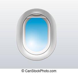 Flugzeugfenster Illustration.