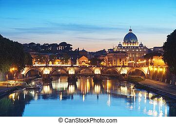 Flussbehälter in Rom - Italien