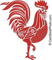 Folk-Rooster.