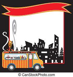 Food-Truck-Poster und Banner
