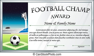 Football-Champion-Vorlage.