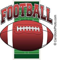 Football Design mit Feld.