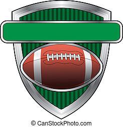 Football Designschild