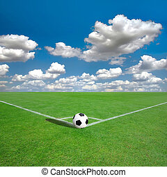 Football ( Fußball) Ecke mit weißen Marken