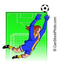 Football / Fußball Torhüter weiblich.