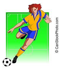 Football / Fußballspieler weiblich.
