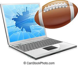 Football-Laptop-Konzept